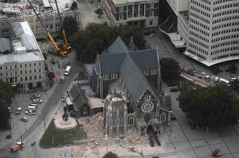 christchurch earthquake in new zealand. Image from Royal New Zealand