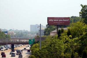 Campaign billboard on I-71 in Cincinnati.