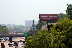 Campaign billboard on I-71 in Cincinnati.