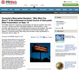 PR Web why-were-you-born
